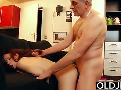 Young slut hard fucked by old horny man he fucks her pussy
