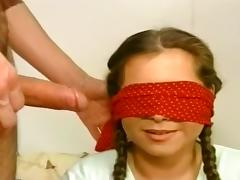 Blindfolded, Amateur, Asian, Blindfolded, Blowjob, Brunette