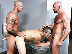 Sean Duran & Matt Stevens & Jason Barr in Glory Hole Birthday Surprise Video - MenOver46 tube porn video