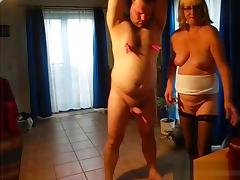 Bea spanks the submissive guy