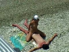 Sunbathing and then fucking gets taped