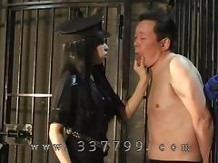 Mistress lets put slave in prison, to lick pussy porn tube video