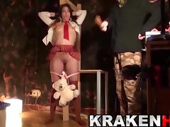 KRAKENHOT - Schoolgirl in her first time at BDSM