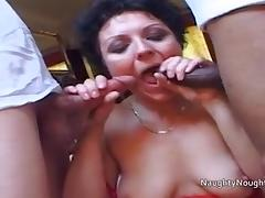 Scottish Shaz is assfucked by black and white tube porn video