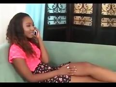 Ebony lesbians - cougar and college girl