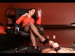 Horny Brunette, Foot Fetish sex clip porn tube video