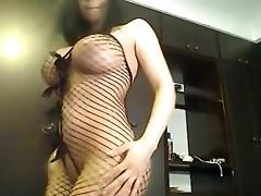 Catsuit, Amateur, Big Tits, Boobs, Catsuit, Fishnet