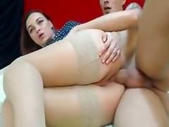 Bitch with bigass and hips gets analed on webcam porn tube video