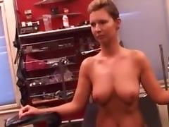 Tits squashed  nipples and pussy pumped porn tube video
