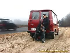 wild car fuck on public street