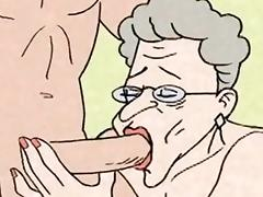 Comic - hot Grandma is horny