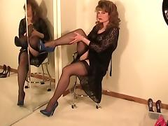 Solo, Heels, Mature, Solo, Stockings