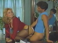 Horny pornstar Nina Hartley in fabulous blonde, big butt adult clip porn tube video
