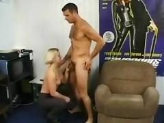 Two cocks and blonde porn tube video