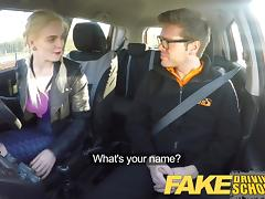 Fake Driving School big tits student creampie and squirting porn tube video
