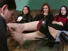 Femdom Foot Party porn tube video