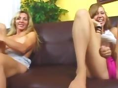 Mom guides her through sex