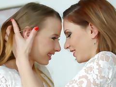 Lovemaking the lesbian way with Candy Sweet and Olivia Grace
