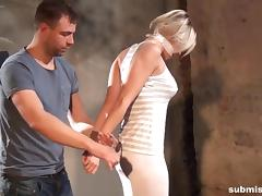 Victoria hogtied and groped at Submissed.com
