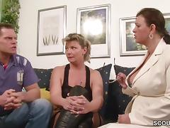 German Big Tit MILF Teach Couple to Have more Fun at Sex tube porn video