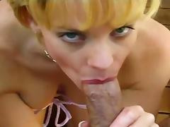 She sucks a very thick cock!