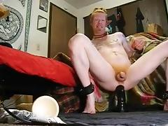 a redhead and his really big vibrator porn tube video