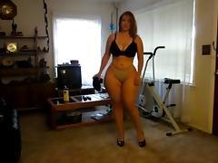 Curvy amateur stripping