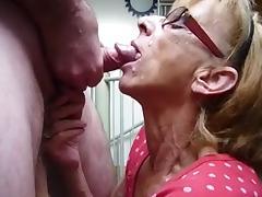 Grandma gets facial porn tube video