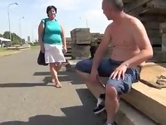Granny Alena - Outdoor Fuck tube porn video