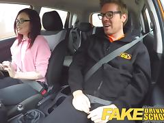 Fake Driving School American Teen Creampied by Instructor porn tube video