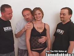 Hood Rat Blonde Group Fuck Sperm Swallow porn tube video