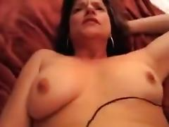 Cock sucking brunette loves to get her pussy drilled porn tube video