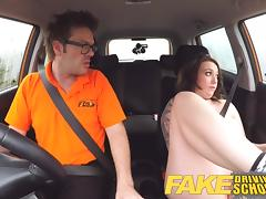 Fake Driving School Instructor gets titty wank from big tits porn tube video