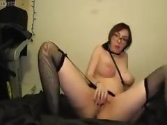 Lady masturb.