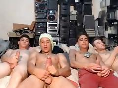 4 Argentinien Sexy Guys Cums Together On Cam