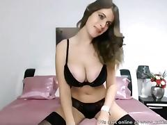 Hot beauty amateur with big tits exposed on camera porn tube video