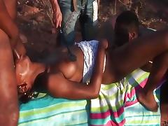 African, African, Black, Ebony, Group, Orgy