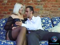 Horny blonde eager to have sex with her lover early
