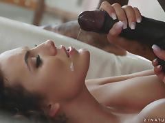 Amazing interracial shagging session with alluring Vanessa Decker porn tube video