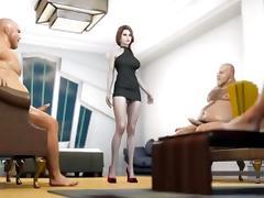 Girl gangbang tube porn video