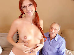Zara Ryan Has Threesome With Grandpas tube porn video