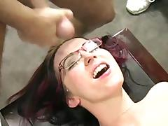 Four eyed bukkake porn tube video