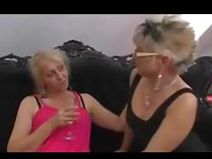 Granny Orgy, Group, Hairy, Horny, Lesbian, Mature