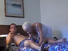 70 Yr-Old Granny With 20 Yr-Old Stud