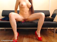 Magnificent Perfect Body Teen Fucking Self On Cam porn tube video
