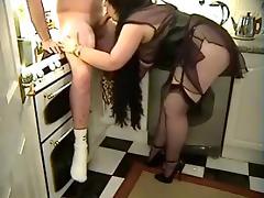 Mature in lingerie sucking dick