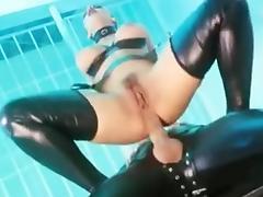 Latex, Big Tits, Boobs, Brunette, Double, Latex