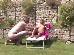 Mistress keeps Slave in the garden