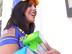sexy schoolgirl first interracial gangbang