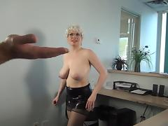 JERKING OFF THE DELIVERY GUY